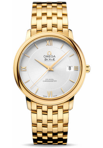Omega Watches - De Ville Prestige Co-Axial 36.8 mm - Yellow Gold - Style No: 424.50.37.20.02.002