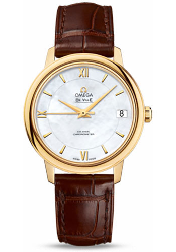 Omega Watches - De Ville Prestige Co-Axial 32.7 mm - Yellow Gold - Style No: 424.53.33.20.05.002