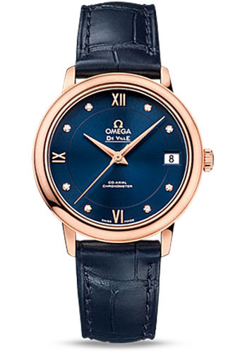 Omega Watches - De Ville Prestige Co-Axial 32.7 mm - Red Gold - Style No: 424.53.33.20.53.001