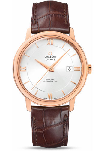 Omega Watches - De Ville Prestige Co-Axial 39.5 mm - Red Gold - Style No: 424.53.40.20.02.001