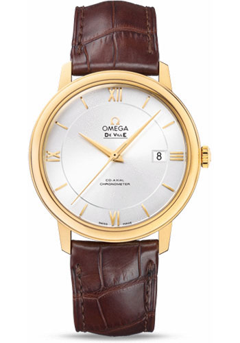 Omega Watches - De Ville Prestige Co-Axial 39.5 mm - Yellow Gold - Style No: 424.53.40.20.02.002