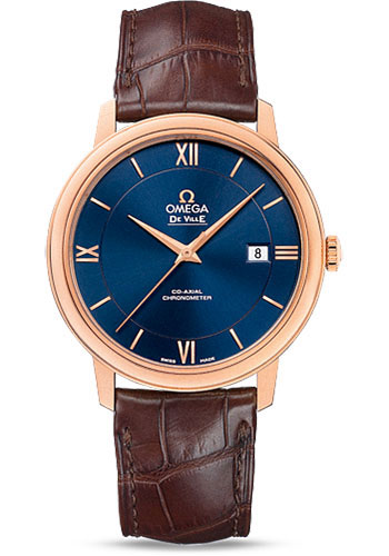 Omega Watches - De Ville Prestige Co-Axial 39.5 mm - Red Gold - Style No: 424.53.40.20.03.002