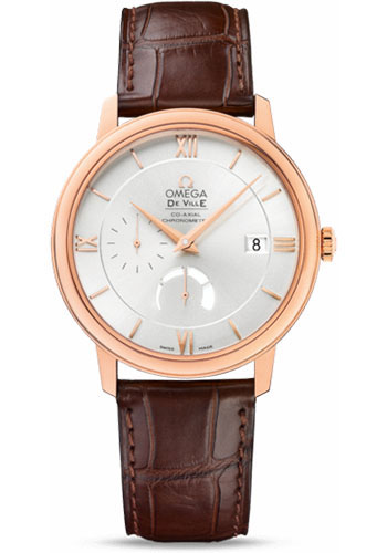 Omega Watches - De Ville Prestige Co-Axial Power Reserve 39.5 mm - Red Gold - Style No: 424.53.40.21.02.001