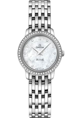 Omega Watches - De Ville Prestige Quartz 24.4 mm - White Gold - Style No: 424.55.24.60.55.003