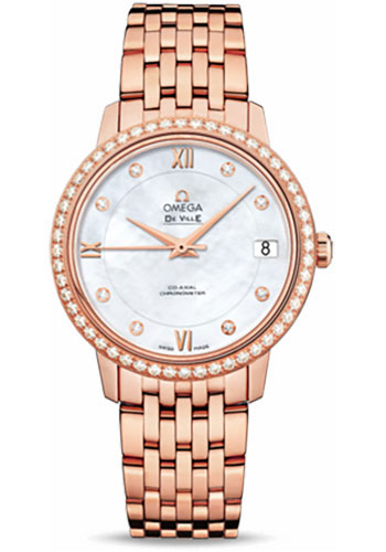 Omega Watches - De Ville Prestige Co-Axial 32.7 mm - Red Gold - Style No: 424.55.33.20.55.002