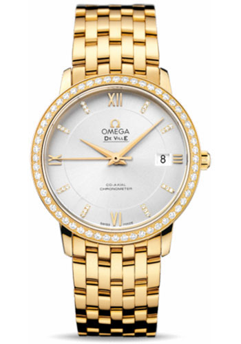 Omega Watches - De Ville Prestige Co-Axial 36.8 mm - Yellow Gold - Style No: 424.55.37.20.52.002