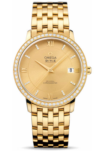 Omega Watches - De Ville Prestige Co-Axial 36.8 mm - Yellow Gold - Style No: 424.55.37.20.58.001