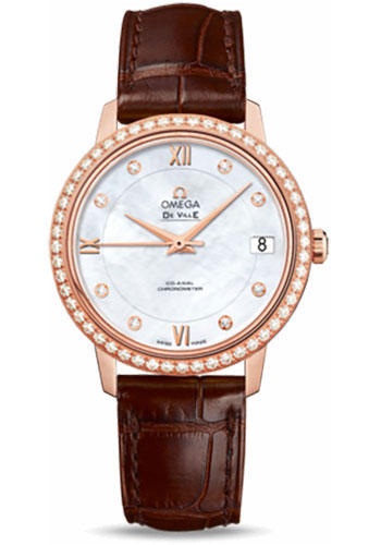 Omega Watches - De Ville Prestige Co-Axial 32.7 mm - Red Gold - Style No: 424.58.33.20.55.001