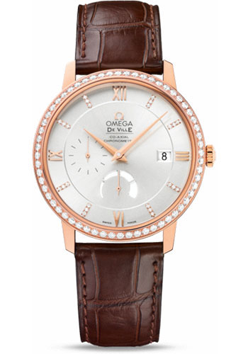 Omega Watches - De Ville Prestige Co-Axial Power Reserve - 39.5 mm - Red Gold - Style No: 424.58.40.21.52.002