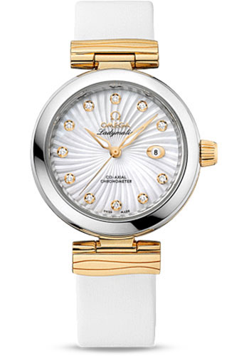 Omega Watches - De Ville Ladymatic Co-Axial 34 mm - Steel and Yellow Gold - Style No: 425.22.34.20.55.002