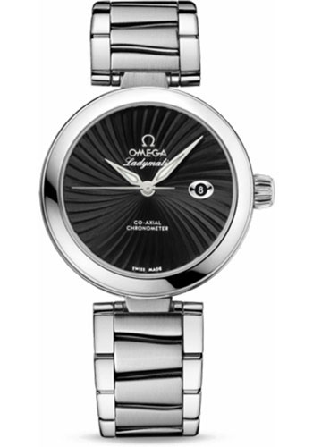 Omega Watches - De Ville Ladymatic Co-Axial 34 mm - Stainless Steel on Bracelet - Style No: 425.30.34.20.01.001