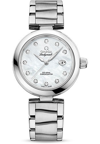 Omega Watches - De Ville Ladymatic 34 mm - Stainless Steel on Bracelet - Style No: 425.30.34.20.55.002