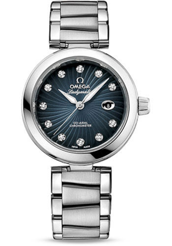 Omega Watches - De Ville Ladymatic Co-Axial 34 mm - Stainless Steel on Bracelet - Style No: 425.30.34.20.56.001