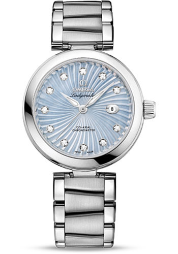 Omega Watches - De Ville Ladymatic Co-Axial 34 mm - Stainless Steel on Bracelet - Style No: 425.30.34.20.57.002