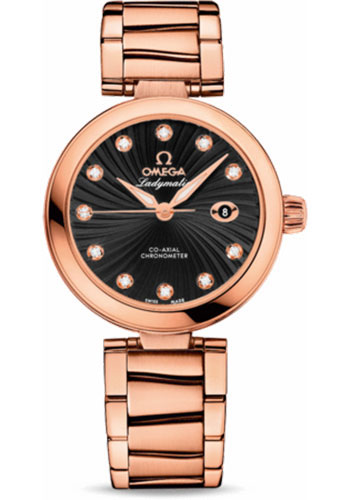 Omega Watches - De Ville Ladymatic Co-Axial 34 mm - Red Gold - Style No: 425.60.34.20.51.001