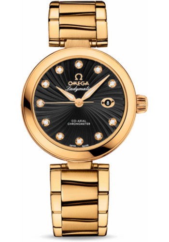 Omega Watches - De Ville Ladymatic Co-Axial 34 mm - Yellow Gold - Style No: 425.60.34.20.51.002