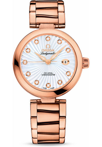 Omega Watches - De Ville Ladymatic Co-Axial 34 mm - Red Gold - Style No: 425.60.34.20.55.001