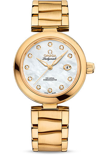 Omega Watches - De Ville Ladymatic 34 mm - Yellow Gold - Style No: 425.60.34.20.55.003
