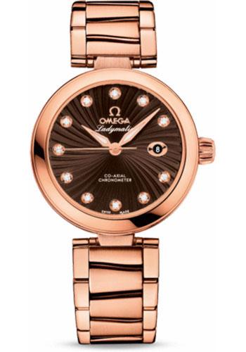 Omega Watches - De Ville Ladymatic Co-Axial 34 mm - Red Gold - Style No: 425.60.34.20.63.001