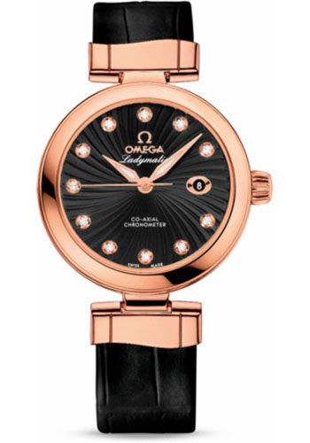 Omega Watches - De Ville Ladymatic Co-Axial 34 mm - Red Gold - Style No: 425.63.34.20.51.001