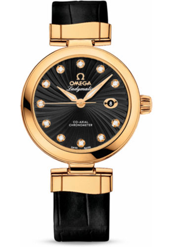 Omega Watches - De Ville Ladymatic Co-Axial 34 mm - Yellow Gold - Style No: 425.63.34.20.51.002
