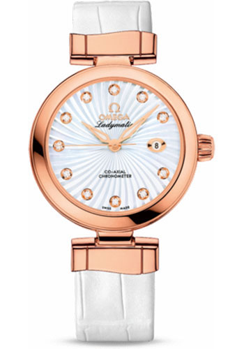 Omega Watches - De Ville Ladymatic Co-Axial 34 mm - Red Gold - Style No: 425.63.34.20.55.001