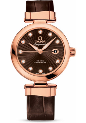 Omega Watches - De Ville Ladymatic Co-Axial 34 mm - Red Gold - Style No: 425.63.34.20.63.001