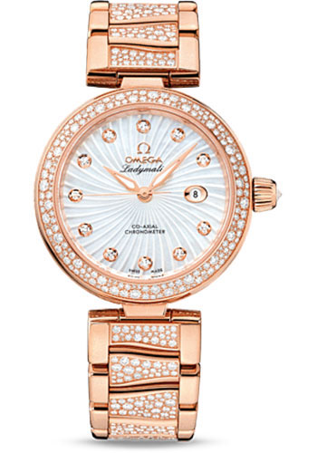 Omega Watches - De Ville Ladymatic Co-Axial 34 mm - Red Gold - Style No: 425.65.34.20.55.005