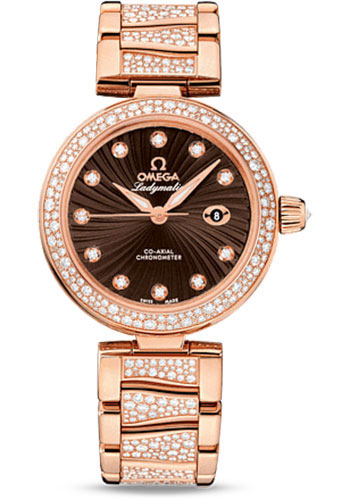 Omega Watches - De Ville Ladymatic Co-Axial 34 mm - Red Gold - Style No: 425.65.34.20.63.003