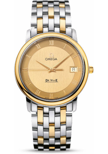 Omega Watches - De Ville Prestige Quartz 34.4 mm - Steel And Yellow Gold - Style No: 4310.12.00