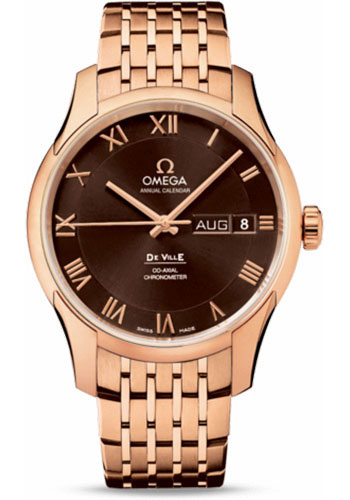 Omega Watches - De Ville Co-Axial Annual Calendar 41 mm - Red Gold - Style No: 431.50.41.22.13.001
