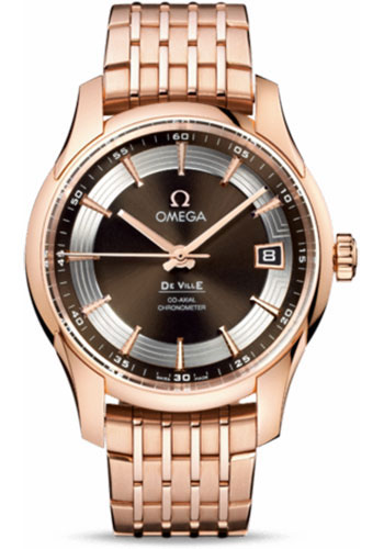 Omega Watches - De Ville Hour Vision Co-Axial 41 mm - Red Gold - Style No: 431.60.41.21.13.001