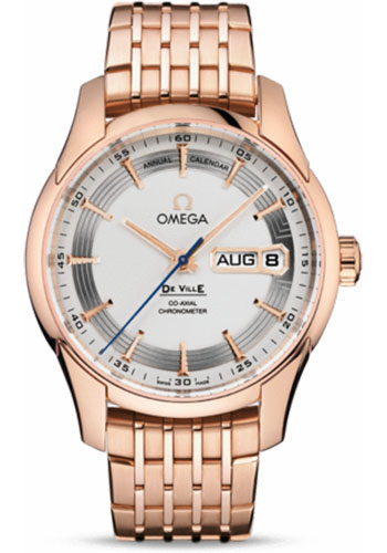 Omega Watches - De Ville Hour Vision Co-Axial Annual Calendar 41 mm - Red Gold - Style No: 431.60.41.22.02.001