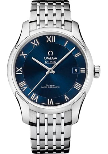 Omega Watches - De Ville Hour Vision Co-Axial 41 mm - Stainless Steel - Style No: 433.10.41.21.03.001