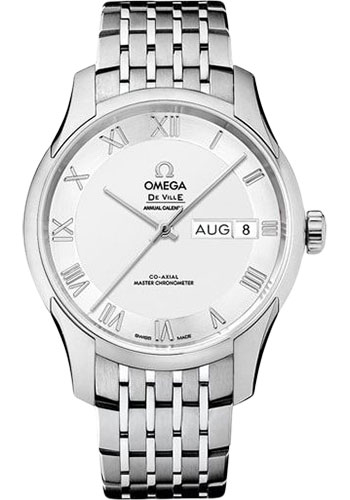 Omega Watches - De Ville Hour Vision Co-Axial Annual Calendar - 41 mm - Stainless Steel - Style No: 433.10.41.22.02.001