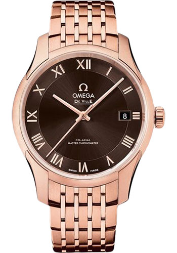 Omega Watches - De Ville Hour Vision Co-Axial 41 mm - Sedna Gold - Style No: 433.50.41.21.13.001