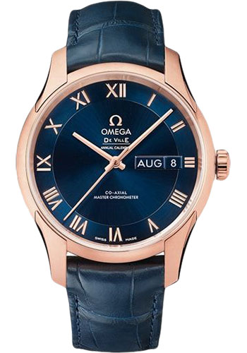 Omega Watches - De Ville Hour Vision Co-Axial Annual Calendar - 41 mm - Sedna Gold - Style No: 433.53.41.22.03.001
