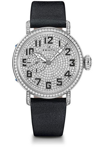 Zenith Watches - Pilot Montre D'Aeronef Type 20 Lady White Gold - Style No: 45.1931.681/79.C717