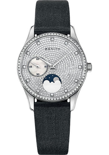 Zenith Watches - Elite Lady Ultra Thin Moonphase White Gold - Style No: 45.2310.692/09.C717