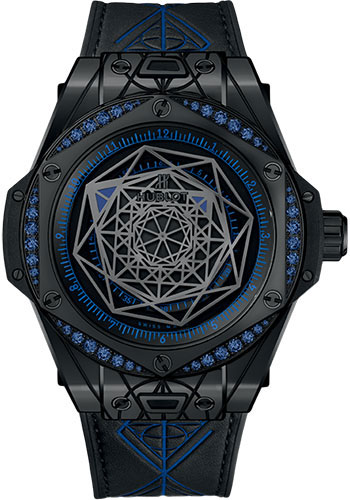 Hublot Watches - Big Bang 39mm Sang Bleu - All Black - Style No: 465.CS.1119.VR.1201.MXM18