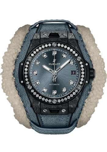Hublot Watches - Big Bang 39mm One Click - Frosted Carbon Diamonds - Style No: 465.QK.7170.VR.1204.ALP18