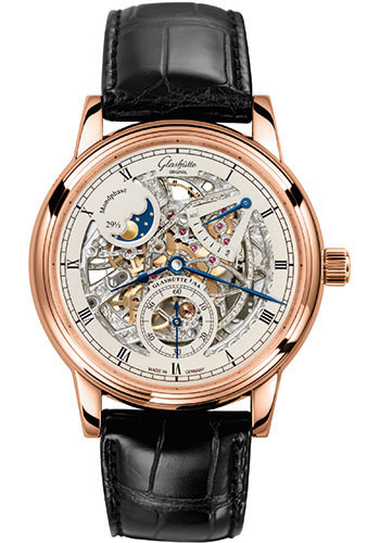 Glashutte Original Watches - Quintessentials Senator Moonphase Skeletonized - Style No: 49-13-15-15-04
