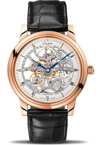 Glashutte Original Watches - Quintessentials Senator Manual Winding Skeletonized Edition - Style No: 49-18-01-05-30