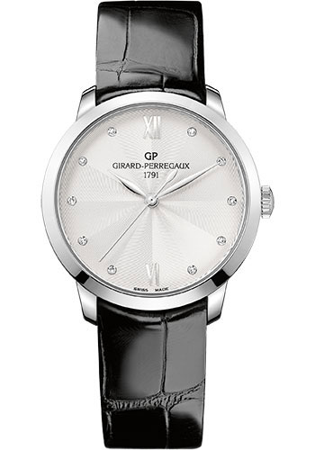 Girard-Perregaux Watches - 1966 36 mm - Steel - Alligator Strap - Style No: 49523-11-171-CB6A
