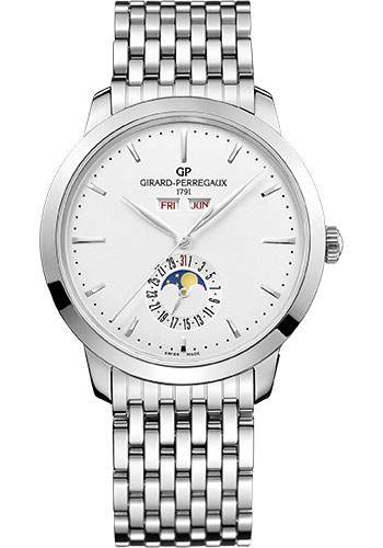 Girard-Perregaux Watches - 1966 Full Calendar - Style No: 49535-11-131-11A