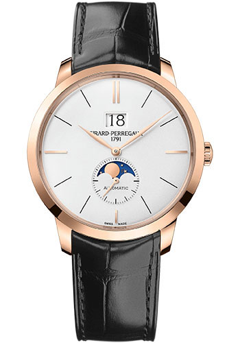 Girard-Perregaux Watches - 1966 Large Date and Moon Phases - Style No: 49556-52-131-BB6C