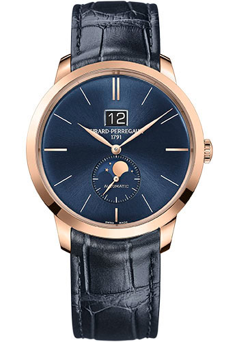 Girard-Perregaux Watches - 1966 Large Date and Moon Phases - Style No: 49556-52-1832BB4A
