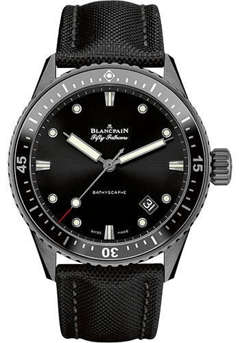 Blancpain Watches - Fifty Fathoms Bathyscaphe - Black Ceramic - Style No: 5000-0130-B52 A