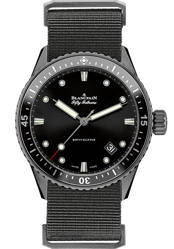 Blancpain Watches - Fifty Fathoms Bathyscaphe - Black Ceramic - Style No: 5000-0130-NAB A