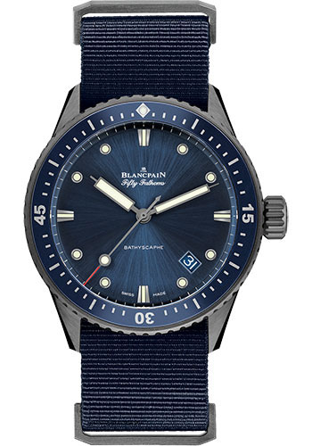 Blancpain Watches - Fifty Fathoms Bathyscaphe - Grey Ceramic - Style No: 5000-0240-NAOA
